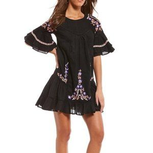 NWT Free People Pavlo Floral Embroidered D…